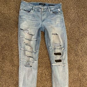 Guess Destroyed jeans, size 30 skinny stretch mid